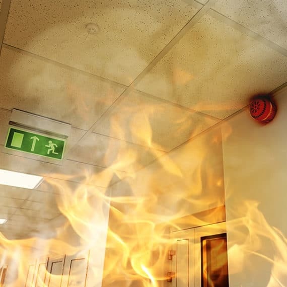 fire at a workplace
